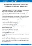 Giải bài tập Dựng hình bằng thước và compa, dựng hình thang SGK Toán 8 tập 1