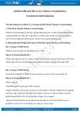 Giải bài tập Vitamin và muối khoáng SGK Sinh 8
