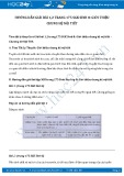 Giải bài tập Giới thiệu chung hệ nội tiết SGK Sinh 8