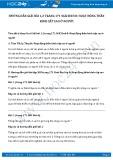 Giải bài tập Hoạt động thần kinh cấp cao ở Người SGK Sinh 8