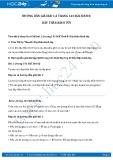 Giải bài tập Dây thần kinh tủy SGK Sinh 8