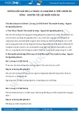 Giải bài tập Tiêu chuẩn ăn uống – Nguyên tắc lập khẩu phần ăn SGK Sinh 8