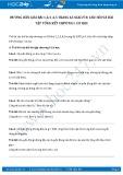 Giải bài tập Câu hỏi và bài tập tổng kết chương 1 - Cơ học SGK Lý 8
