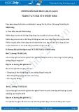 Giải bài tập Nhiệt năng SGK Lý 8