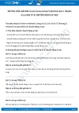 Giải bài tập Chuyển động cơ học SGK Lý 8