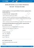 Giải bài tập Tính chất – Ứng dụng của Hiđro SGK Hóa 8