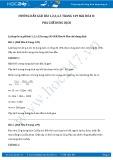 Giải bài tập Pha chế dung dịch SGK Hóa 8