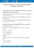 Giải bài tập Điều chế khí Hiđro – Phản ứng thế SGK Hóa 8