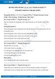 Giải bài tập Tổng kết chương 2 Âm học (tiếp) SGK Vật lý 7