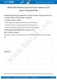 Giải bài tập Độ cao của âm SGK Vật lý 7