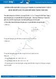 Giải bài tập Quan hệ giữa góc và cạnh đối diện trong tam giác SGK Hình học 7 tập 2