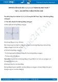 Giải bài tập Hai đường thẳng vuông góc SGK Hình học 7 tập 1