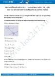 Giải bài tập Các góc tạo bởi một đường thẳng cắt hai đường thẳng SGK Hình học 7 tập 1