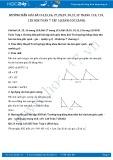 Giải bài tập Cạch - góc - Cạnh SGK Hình học 7 tập 1