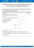 Giải bài tập Luyện tập từ vuông góc đến song song SGK Hình học 7 tập 1