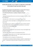 Giải bài tập Khái niệm về xà phòng và chất giặt rửa tổng hợp SGK Hóa học 12