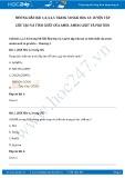 Giải bài tập Luyện tập cấu tạo và tính chất của Amin, Amino axit và Protein SGK Hóa học 12