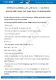 Giải bài tập Kim loại kiềm và hợp chất quan trọng của kim loại kiềm SGK Hóa học 12