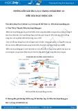 Giải bài tập Điều hòa hoạt động gen SGK Sinh học 12