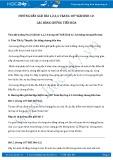 Giải bài tập Các bằng chứng tiến hóa SGK Sinh học 12