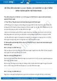 Giải bài tập Quá trình hình thành quần thể thích nghi SGK Sinh học 12