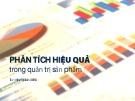 Bài giảng Quản trị sản phẩm: Chương 8 - Trần Nhật Minh