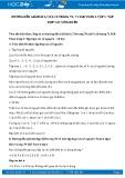 Giải bài tập Tập hợp các số nguyên SGK Đại số 6 tập 1