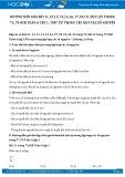 Giải bài tập Thứ tự trong tập hợp các số nguyên SGK Đại số 6 tập 1