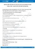Giải bài tập Bội và ước của một số nguyên SGK Đại số 6 tập 1