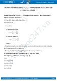 Giải bài tập Nhân chia số hữu tỉ SGK Đại số 7 tập 1