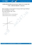 Giải bài tập Luyện tập hàm số y = ax (a # 0) SGK Đại số 7 tập 1