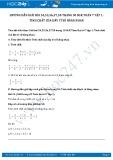 Giải bài tập Tính chất của dãy tỉ số bằng nhau SGK Đại số 7 tập 1