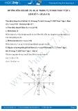 Giải bài tập Hàm số y=ax (a # 0) SGK Đại số 7 tập 1
