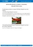 Giải bài tập Tổng kết về cây có hoa SGK Sinh học 6