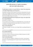 Giải bài tập Cấu tạo và chức năng của hoa SGK Sinh học 6