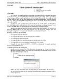 Bài giảng môn Thiết kế web - Phần 2: Ngôn ngữ kịch bản JavaScript