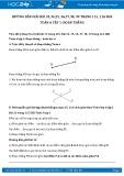 Giải bài tập Đoạn thẳng SGK Hình học 6 tập 1