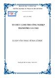 Luận văn Thạc sĩ Địa lí học: Tổ chức lãnh thổ công nghiệp thành phố Cần Thơ