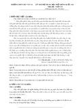 Kỳ thi thử THPT Quốc gia môn Ngữ văn - Trường THPT Chu Văn An