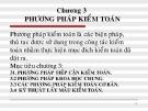 Bài giảng Kiểm toán văn bản: Chương 3 - Huỳnh Huy Hạnh