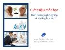 Bài giảng Định hướng nghề nghiệp và kỹ năng học tập: Chương 1 - Nguyễn Hoàng Phi Nam