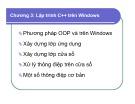 Bài giảng Lập trình Windows - Chương 3: Lập trình C++ trên Windows (2016)