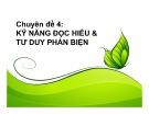 Bài giảng Định hướng nghề nghiệp và kỹ năng học tập: Chuyên đề 4 - Nguyễn Hoàng Phi Nam
