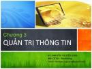 Bài giảng Quản trị hành chính văn phòng: Chương 3 - Nguyễn Thị Tiểu Loan