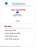 Bài giảng Lập trình web - Chương 1: Ngôn ngữ HTML