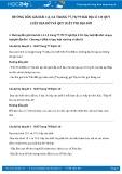 Hướng dẫn giải bài 1,2 trang 79 SGK Địa lí 10