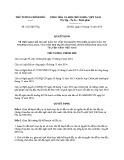 Quyết định số: 2521/QĐ-TTg năm 2016