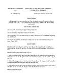 Quyết định số: 2548/QĐ-TTg năm 2016