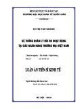 Luận án Tiến sĩ Kinh tế: Hệ thống quản lý rủi ro hoạt động tại các ngân hàng thương mại Việt Nam