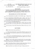 Quyết định số 37-QĐ-ATTP